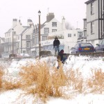 Snowy seashore Parkgate Cheshire